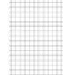 Five millimeters gray grid on sheet vector image vector image