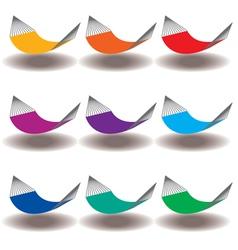 Hammocks Rainbow vector image vector image