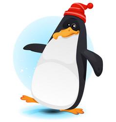 happy walking north pole penguin vector image