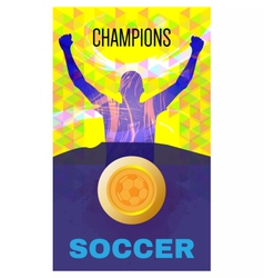 Digital abstract winner sportman champions vector image