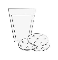 milk and cookies vector image vector image