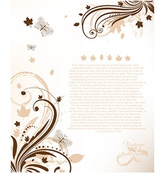 Romantic Floral Brochure Template vector image vector image
