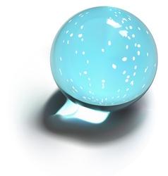 Snowflakes crystal ball vector image