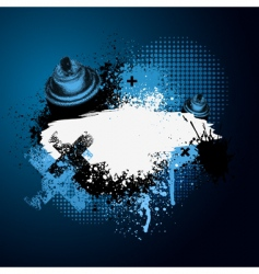 blue graffiti with spray can vector image
