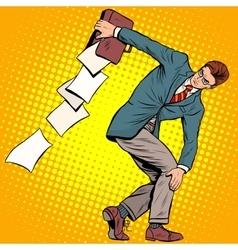 businessman discus thrower vector image