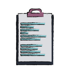 clipboard document file office object equipment vector image