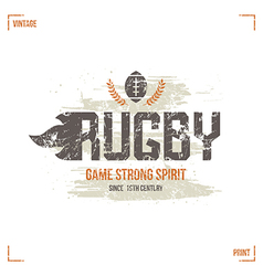 College rugby team badge vector image vector image