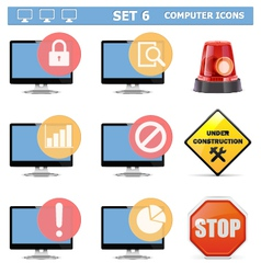 Computer Icons Set 6 vector image