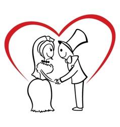 Couple on wedding vector image vector image