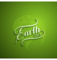 Earth Day sign design vector image vector image