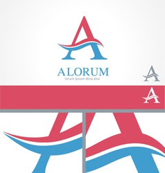 Letter A Swirl Logo Template vector image