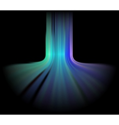 Abstract Aurora Lights Background vector image vector image