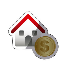 buying house for family icon vector image