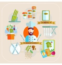 Delicatessen cooking culinary pastry chef classes vector image vector image