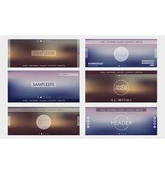 Header design for web site vector image vector image