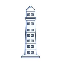 Lighthouse maritime frame icon vector