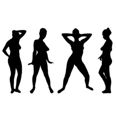 set of different women posing vector image
