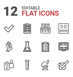 12 test icons vector image