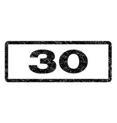 30 watermark stamp vector image