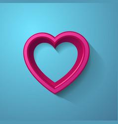 3d Heart Frame vector image