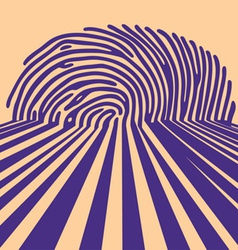 abstract fingerprint vector image