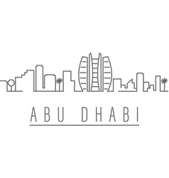Abu dhabi city outline icon elements cities vector