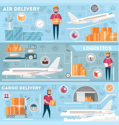 airport logistics and delivery management set vector image