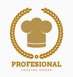award cook chef hat restaurant icon button set vector image