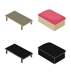 bedroom and room icon set vector image