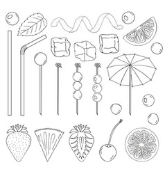 Big collection of elements for the decor of vector