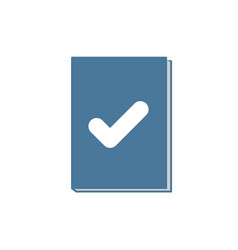 Book icon with check sign vector