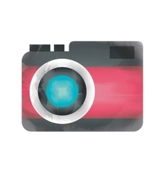 Camera watercolor isolated icon design vector