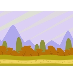 Cartoon flat seamless landscape vector image vector image