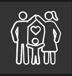 Child protection chalk icon vector