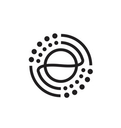 circle wave logo design with dots vector image