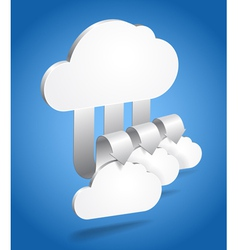 Clouds and arrows vector image