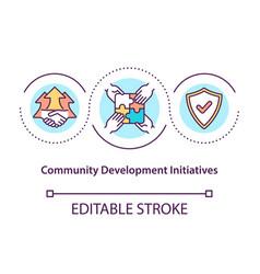 Community development initiatives concept icon vector