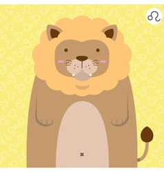 cute big fat leo zodiac cartoon vector image