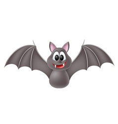 Cute cartoon bat vector
