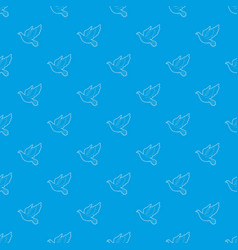 dove pattern seamless blue vector image