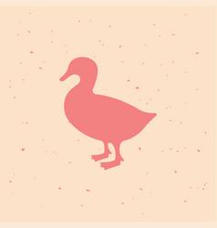 duck vintage logo retro print poster vector image