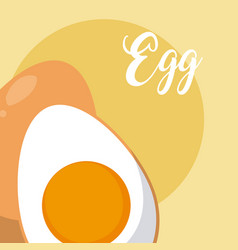 Egg cooked food vector