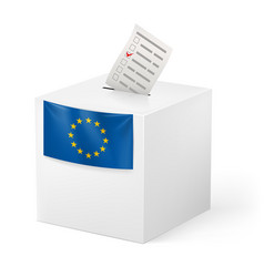 Election in european union ballot box with vector