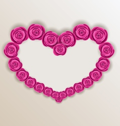 Elegant heart made in roses for Valentine Day copy vector