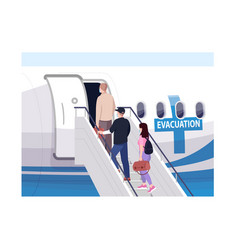 emergency evacuation semi flat contamination vector image
