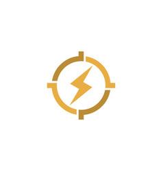 Energy target logo icon design vector