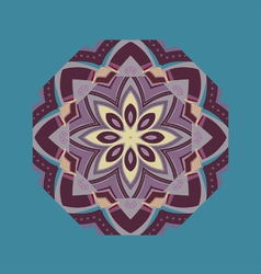 ethnic element round ornament vector image