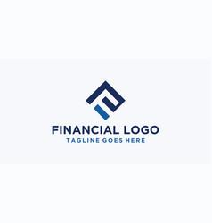 f square logo design inspiration vector image