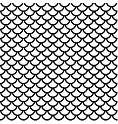 fish scale grid seamless pattern vector image