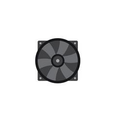 Flat fan element of flat vector